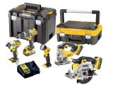 A Dewalt DCK459M3T 18V 4.0Ah Li-ion 5 Piece Kit - DCD796 DCF886 DCS331 DCS391 DCL040 (3 x 4.0Ah Batteries & Charger)